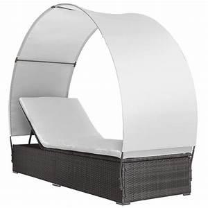 Bain De Soleil Gris : transat bain de soleil lit de jardin chaise longue rotin ~ Dode.kayakingforconservation.com Idées de Décoration
