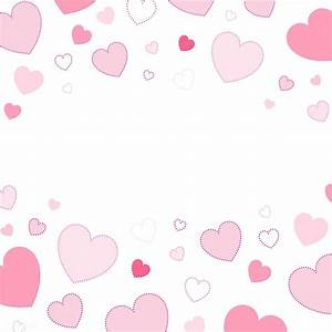 Pink hearts background design vector   free image by ...