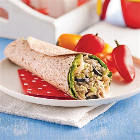 cuisine thon wrap au thon et olives recettes cuisine et nutrition