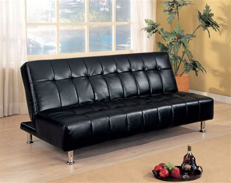Settee Beds Sale by Dreamfurniture 300118 Faux Leather Armless