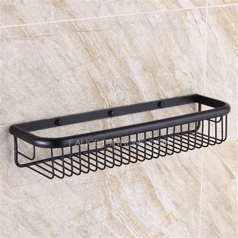 wire hanging shelf 45cm black rectangle wire rubbed bronze hanging