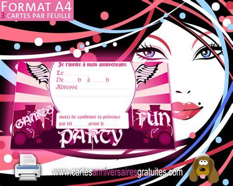 exemple chambre ado invitation anniversaire fille 123 cartes