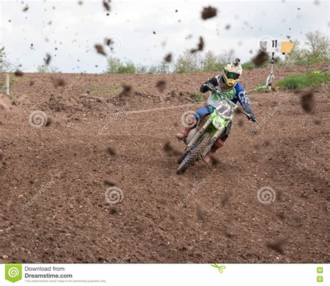 motocross races uk muddy motocross race editorial stock image image of