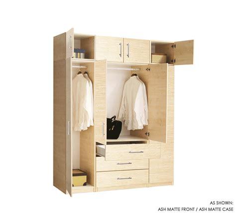 8 door set of hanging and exterior drawer wardrobe closets