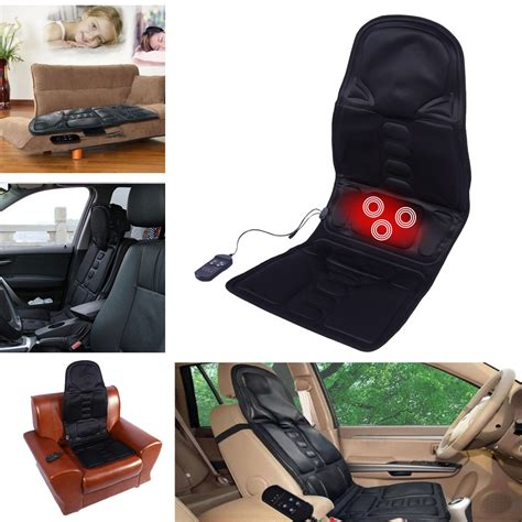 heat back massage chair car home seat cushion massager