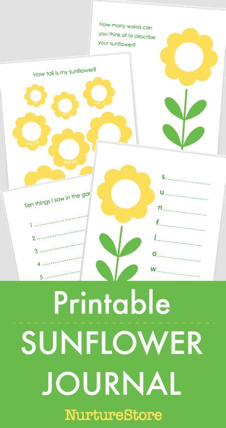 Printable Sunflower Journal Nurturestore