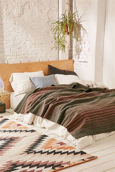 pendleton hemrich striped camp bed blanket bed bohemian