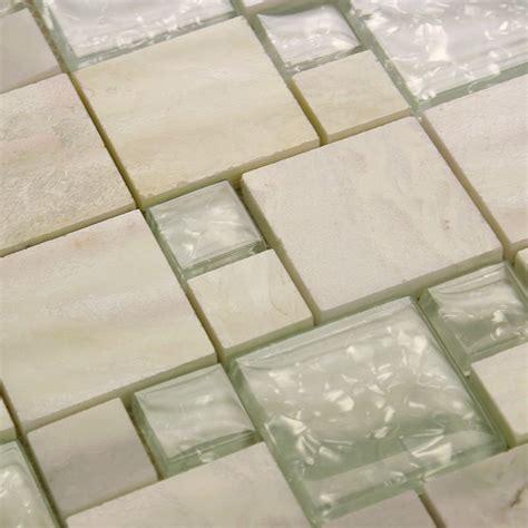 glass tile mirror square wall tile backsplash