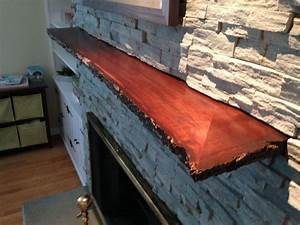 Hand Crafted Live Edge Slab Fireplace Mantle by MAD Custom