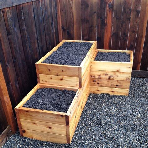 3 tiered corner raised garden bed