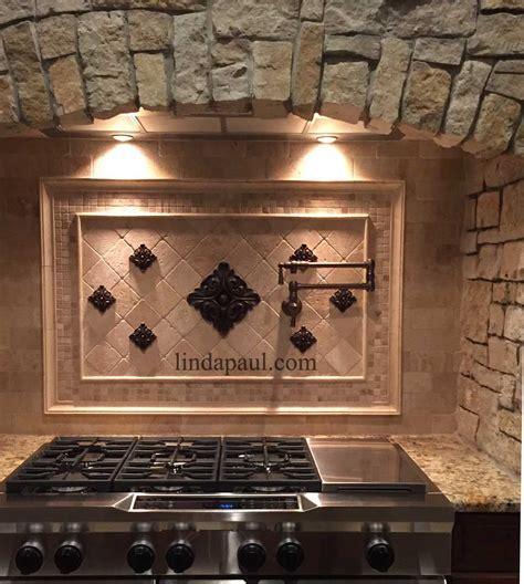 accent tiles for kitchen backsplash metal flower accent tiles for kitchen backsplashes 7394