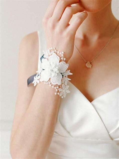 wedding corsage decorated  white flower