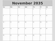 July 2035 Calendar Template
