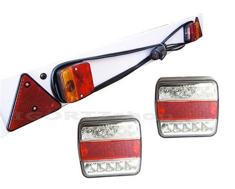 anhänger beleuchtung komplett set set anh 228 nger beleuchtung lichtleiste 13 polig trailer led r 252 ckleuchte 4 funkt ebay