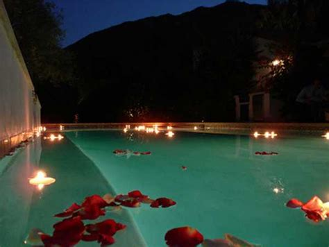 water lily floating lights adding romantic accents