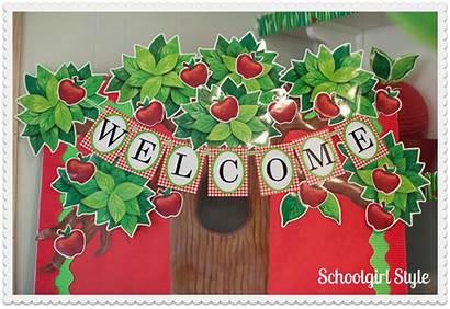 Apple Classroom Theme Bulletin Tree Boards Board