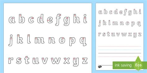 guide  letters letter formation mat eylf