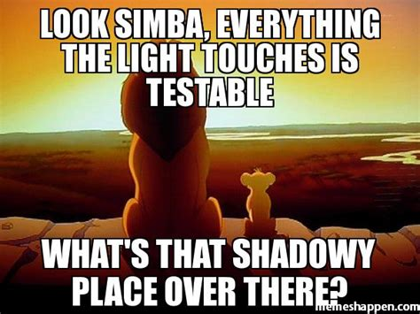 Lion King Shadowy Place Meme Generator - look simba everything the light touches is testable what s that shadowy place over there meme