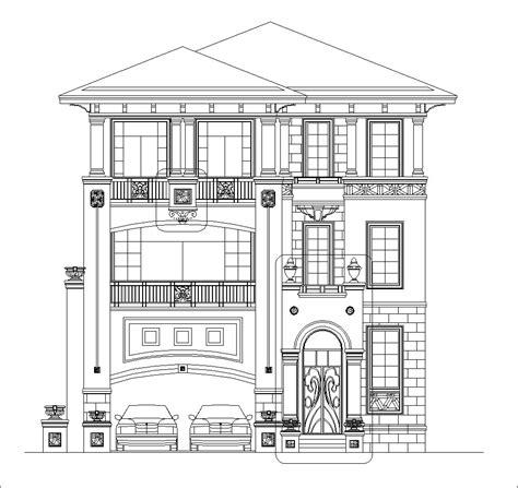 luxury villa plans  cad files dwg files plans  details