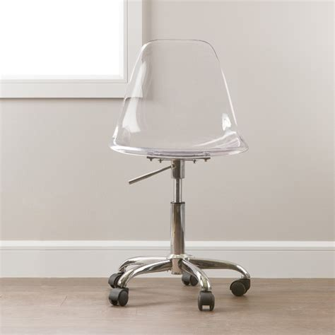 Clear Acrylic Desk Chair by South Shore Acrylic Office Chair Reviews Wayfair