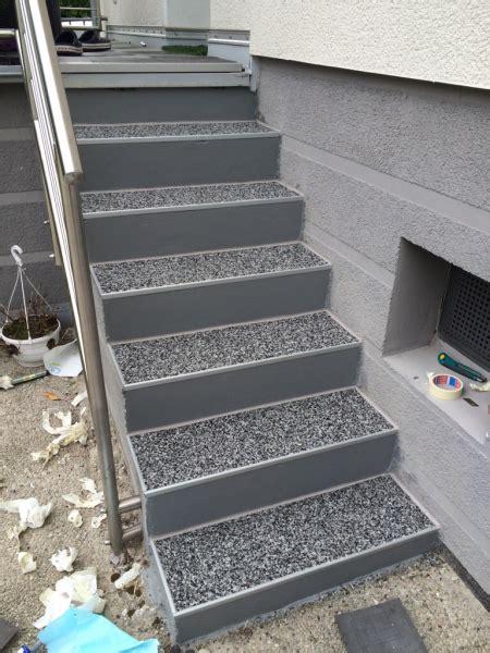 Geflieste Aussentreppe Selbst Sanieren by Au 223 Entreppe Mit Steinteppich Sanieren Bauanleitung Zum