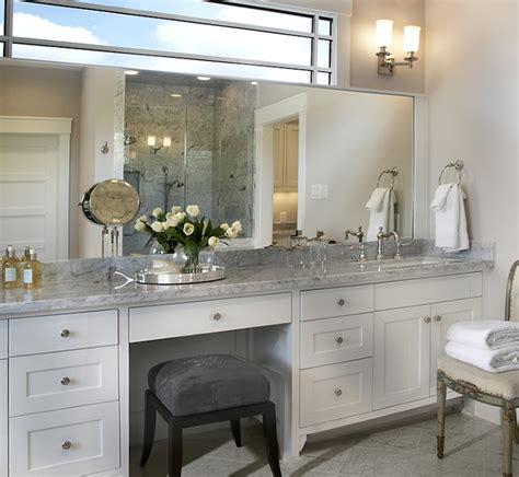 bathroom cabinets with makeup vanity built in makeup vanity traditional bathroom ashley