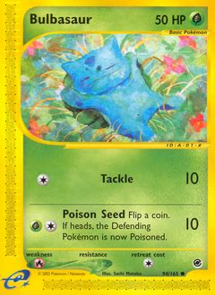 There is a plant seed on its back right from the day this pokémon is born. Bulbasaur Pokémon Card Value & Price | PokemonCardValue