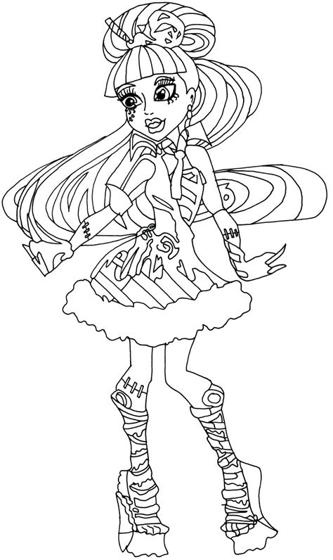 monster high coloring pages coloring pages  girls cool coloring page   printable