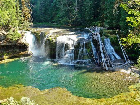 landscape  lewis river falls cascading waterfalls