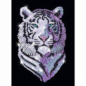 Ksg Sequin Art Snow Tiger Hobbycraft