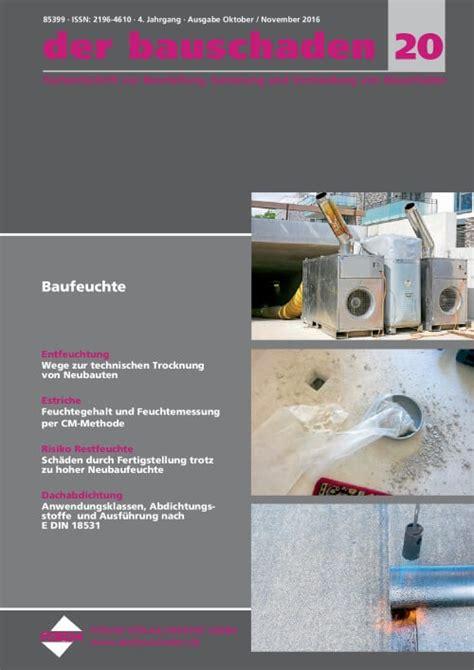 Bauen Im Bestand Bauschaeden Erkennen by Anerkannte Regeln Der Technik Bauen Im Bestand