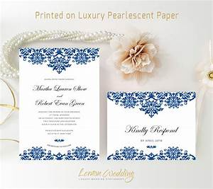 royal blue wedding invitation kits printed on shimmer paper With wedding invitations on shimmer paper