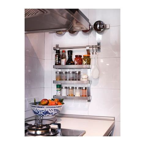 Metal Spice Rack Ikea by Droppar Spice Jar Frosted Glass Stainless Steel
