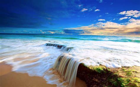 Beautiful Waterfall Beach Wallpapers HD / Desktop and ...