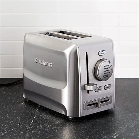 cuisinart custom select  slice toaster crate  barrel