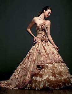 rose colored wedding gown spanish themed wedding pinterest With rose colored wedding dress