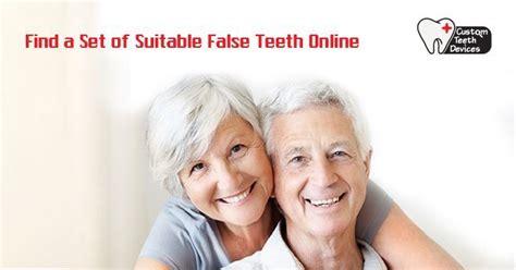 find  set  suitable false teeth