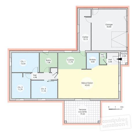 maison 4 chambres plain pied plan maison plain pied 120m2 28 images plans maisons