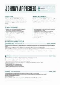 resume template johnny appleseed modern resume template With resume styles and templates