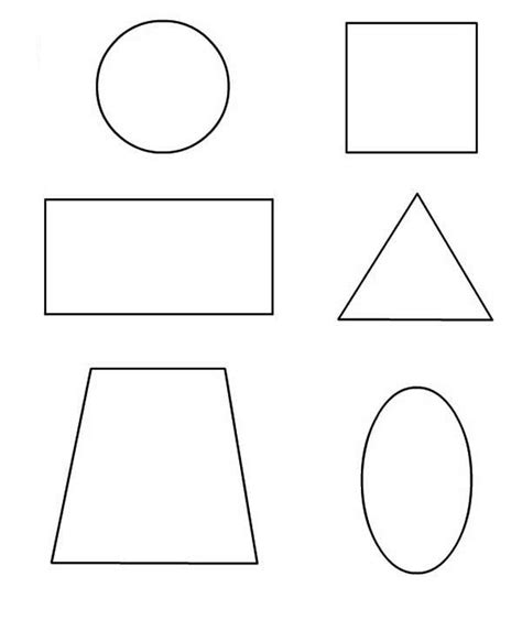 learn  draw basic shapes coloring page netart