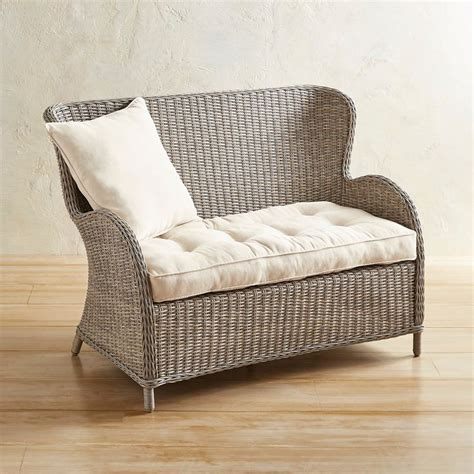 Pier 1 Settee by Capella Island Gray Settee In 2019 Patio Furniture