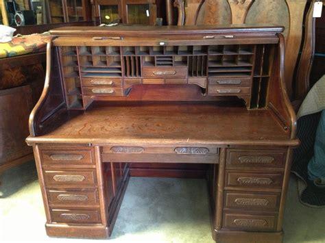 unlock oak crest roll top desk oak roll top desk s curve carved pulls raised panels