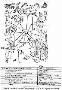 Yamaha Motorcycle 1972 Oem Parts Diagram For Electrical