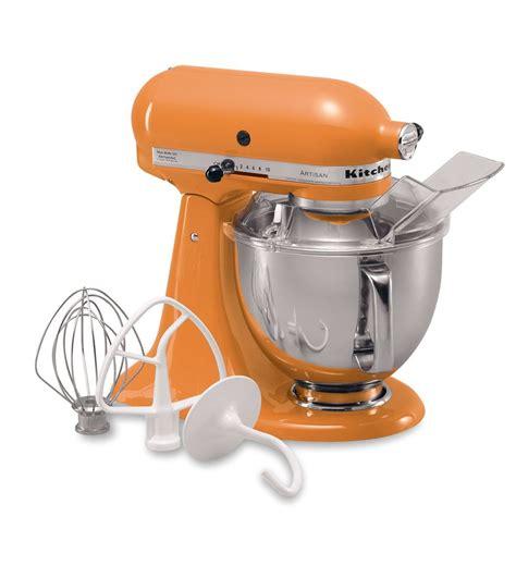 kitchenaid tangerine  quart artisan series stand mixer