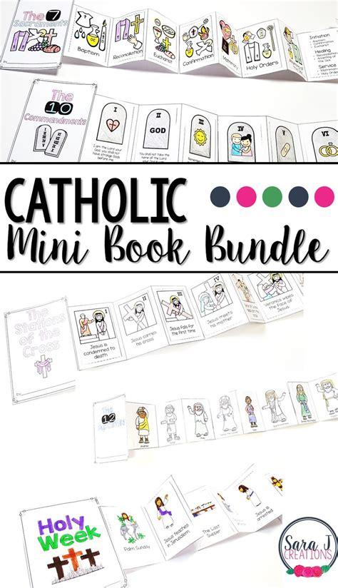 catholic mini accordion books sara  creations