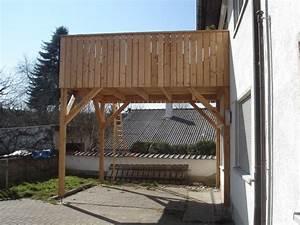 anbau With französischer balkon mit gartenzaun lärchenholz