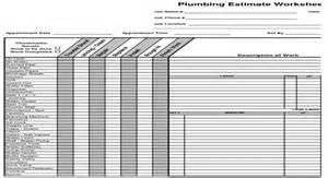 Piping Takeoff Spreadsheet by Plumbing Estimate Construction Worksheet Estimating