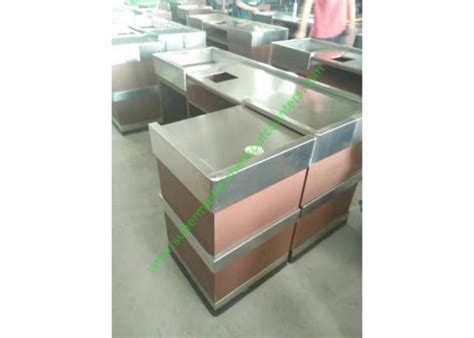 stainless steel cash register counter stand