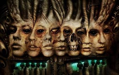 Faces Wallpapers Desktop Cyborg Strange Horror Creative