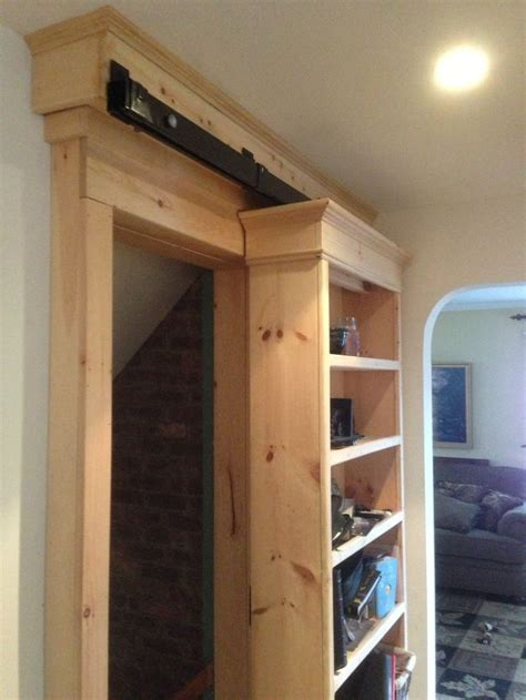 Goss Cabinets by Sliding Barn Door With Bookcase Make It Mine Pinterest
